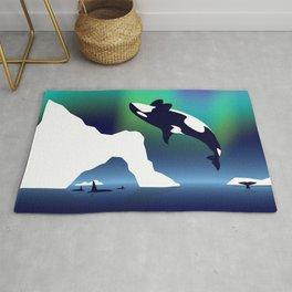 Paper Craft Orca Rug