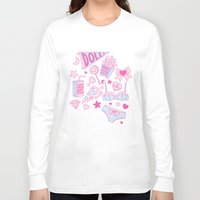 girl power Long Sleeve T-shirts featuring Girl Power by Jade Boylan