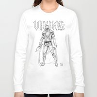 nordic Long Sleeve T-shirts featuring Nordic Viking by Luke Kegley