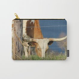 Long Horn Cow Farm Style Photography Carry-All Pouch