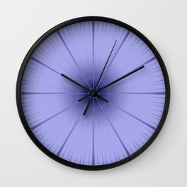 Periwinkle Flower Wall Clock