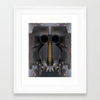 iron giant Framed Art Prints featuring Iron Giant by Ira Carter