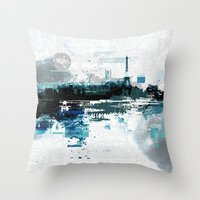 skyline Throw Pillows featuring Skyline by girardin27
