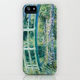 1899-Claude Monet-Water Lilies and Japanese Bridge iPhone Case