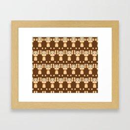 Super cute animals - Cheeky Brown Monkey Framed Art Print