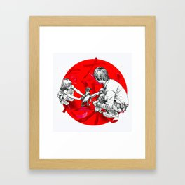 Japanese flag Framed Art Print