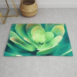 Surreal, Avant-Garde Succulent Boldly Blooming Rug