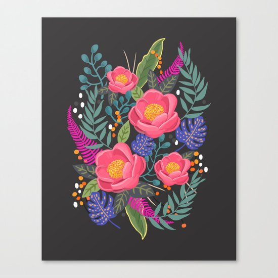 Romantic Blossom night version Canvas Print