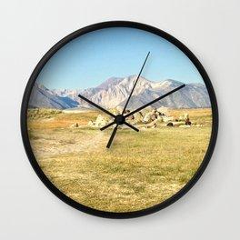 Eastern Sierras Wall Clock