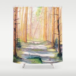 Down The Forest Path Shower Curtain