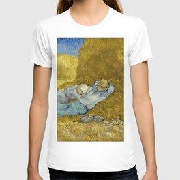 Vincent Van Gogh - Noon, Rest from work / Siesta T-shirt