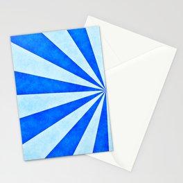 Blue sunburst Stationery Cards