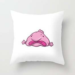 I Just really like Blobfish Marine Biologist Throw Pillow
