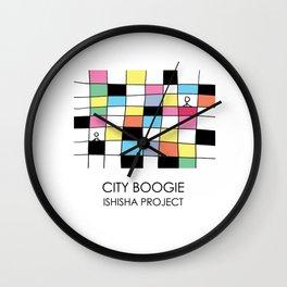 CITY BOOGIE  by ISHISHA PROJECT Wall Clock