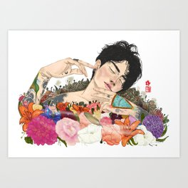 Not Ophelia Art Print