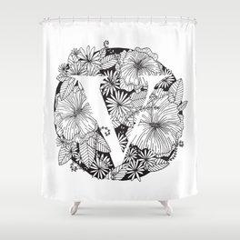 Flower V Shower Curtain