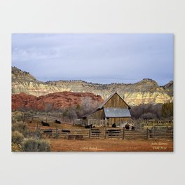 Historic Working Cattle Ranch In Utah , John D Barrett Photography Canvas Print