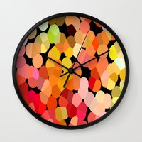 confetti Wall Clocks featuring Confetti by Rosie Brown