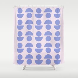 Shapes in Periwinkle Shower Curtain