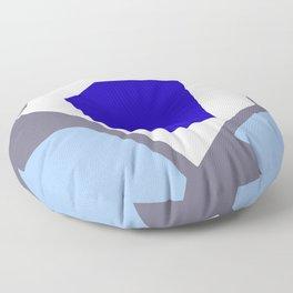 Grow Into Blue - Minimal Abstract Floor Pillow