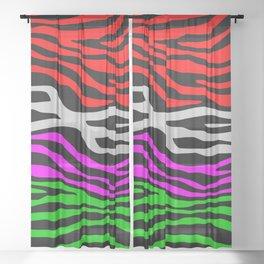 Zebra multi pattern Sheer Curtain
