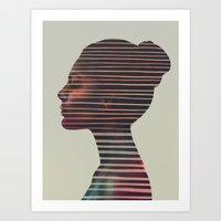 stripes Art Prints featuring Stripes by Andreas Lie