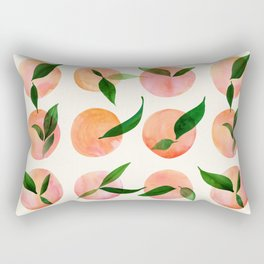 Abstract Orchard / Watercolor Fruit Rectangular Pillow