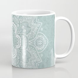 Mandala Temptation in Rustic Sage Color Coffee Mug