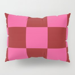 Red and Pink Checker Leviathan Pillow Sham