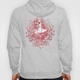 Sexy Woman zombie WITH Flower - Light Coral Hoody