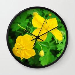 Celandine in the garden Wall Clock