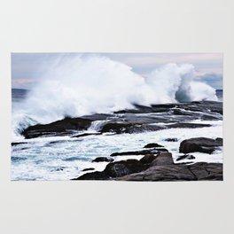Ferocious Ocean -- Peggy's Cove, Nova Scotia  Rug