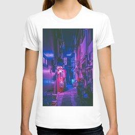 The Neon Alleyway Ghost T-shirt