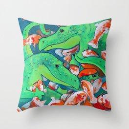 CROCODILE SMILE Throw Pillow