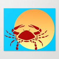 cancer Canvas Prints featuring Cancer by Geni