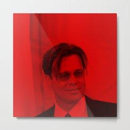 Brad Pitt - Celebrity (Photographic Art) Metal Print