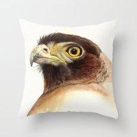 eagle Throw Pillows featuring eagle by Alessandra Razzi Illustrazioni
