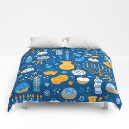 Hanukkah Happy Holidays Pattern Comforters