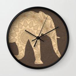 Bohemian Elephant Mandala A395 Wall Clock