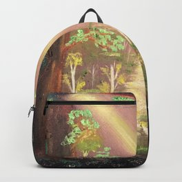 Faery forest cave Backpack