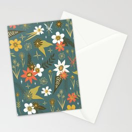 bright fun floral pattern Stationery Cards