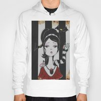 lydia martin Hoodies featuring Lydia by Art of Lety Reyes