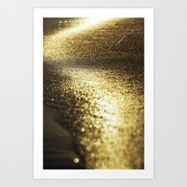 gold on the beach Art Print