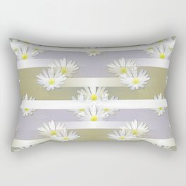 Mix of formal and modern with anemones and stripes 4 Rectangular Pillow