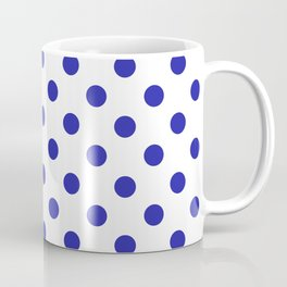 Polka Dots (Navy & White Pattern) Coffee Mug