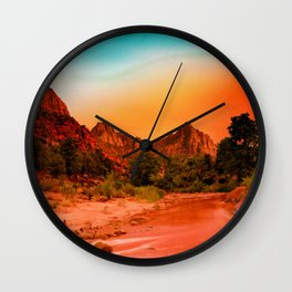 Western Wonderland Wall Clock