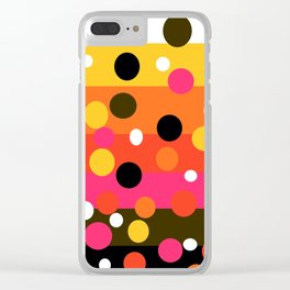 Earth and Summer Sky - Color Strips with Circles Clear iPhone Case