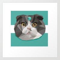 Gem Cat Art Print