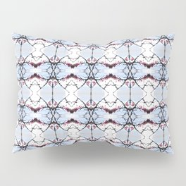 red Malus Radiant crab apple blossoms #7 pattern Pillow Sham