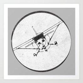 Cessna 172 Skyhawk (front) - 30° bank Art Print